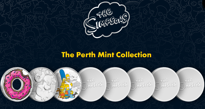 Perth Mint Launches New Series of Bullion Coins based on The Simpsons