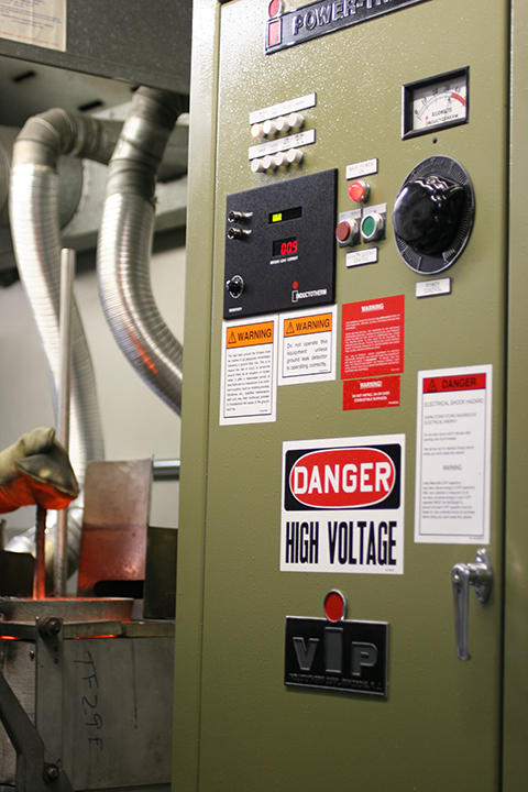 Induction furnace and power supply