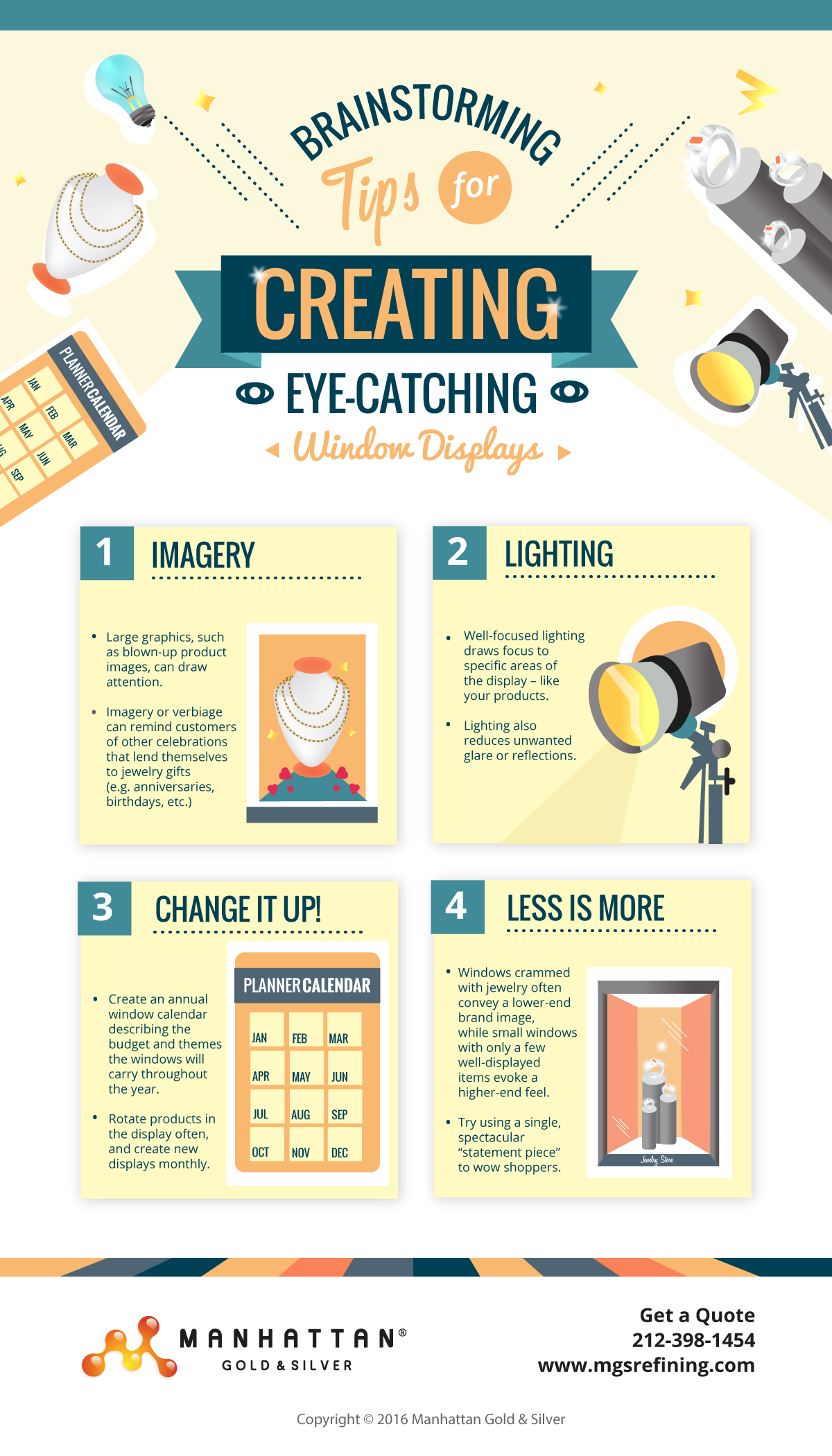 Tips for creating window displays infographic - MGS