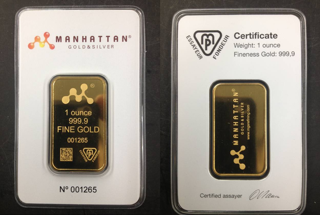 MGS gold bullion bars