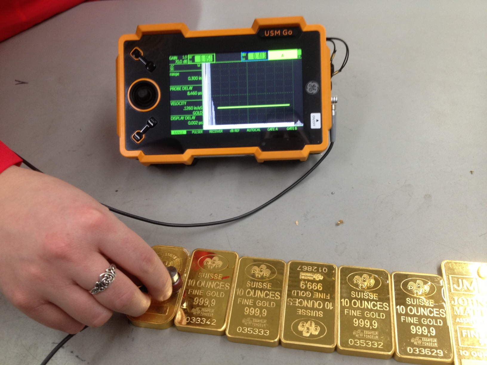 Ultrasonic gold assay – MGS
