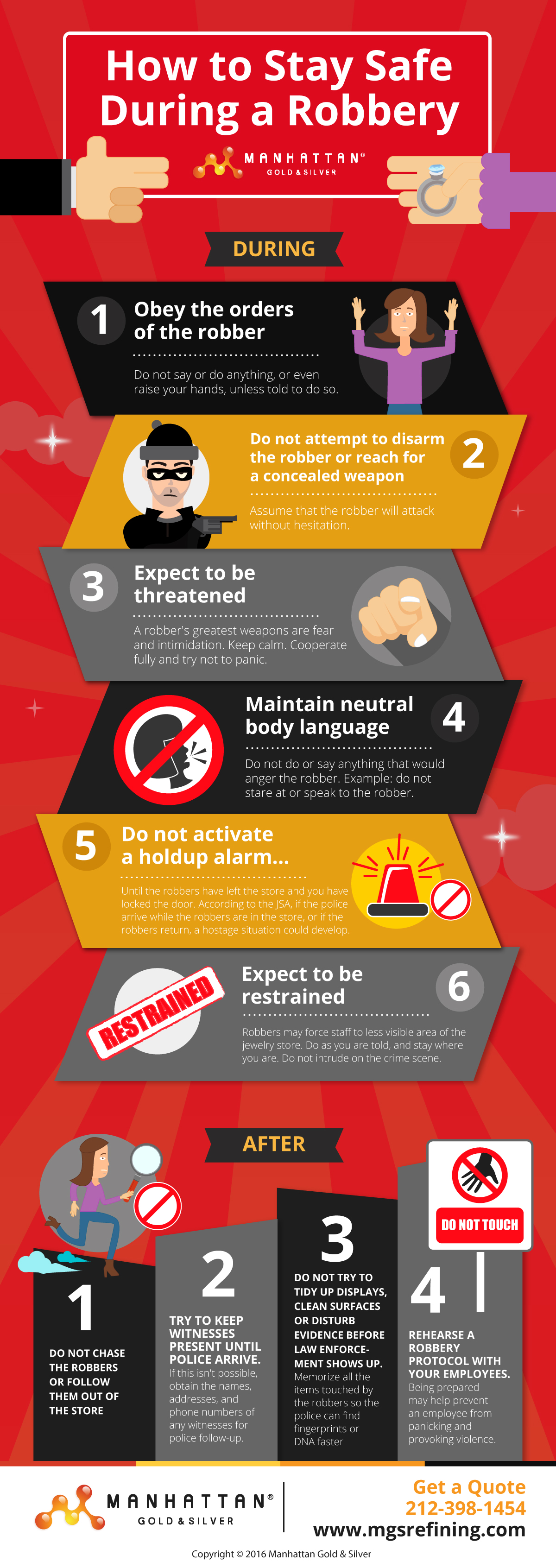 Robbery safety tips infographic – MGS