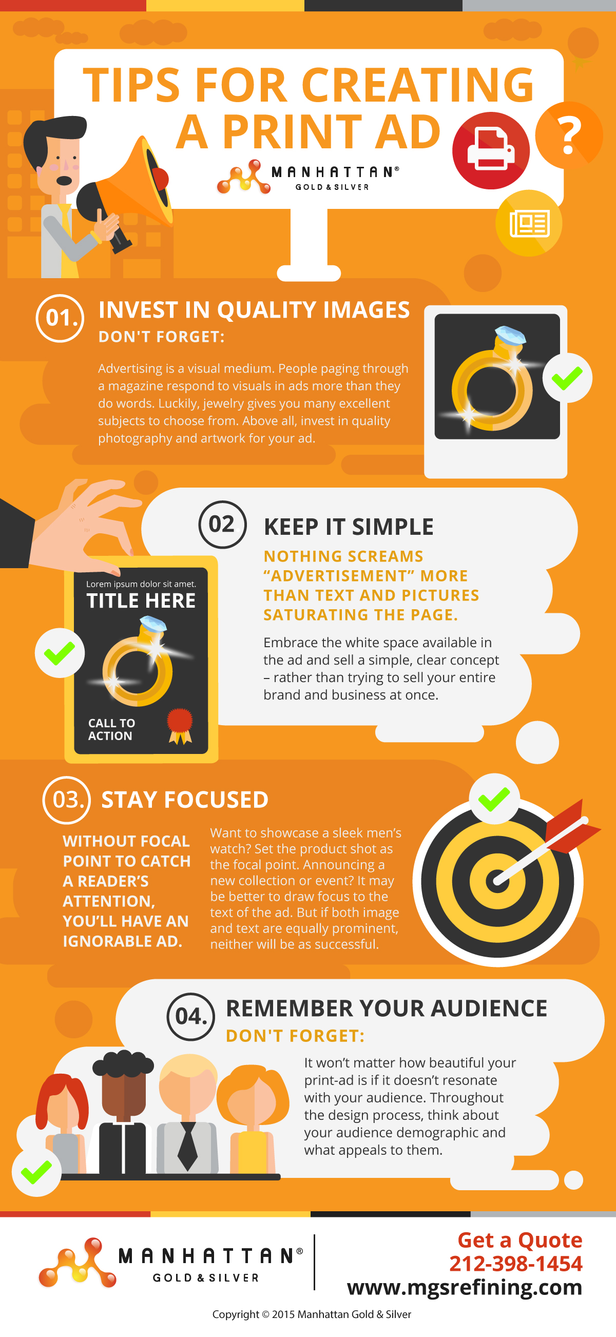 Print ad design tips infographic – MGS