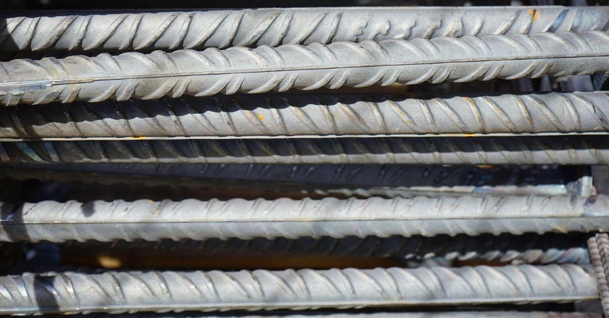 Stacked iron bars