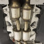 catalytic converter under vehicle