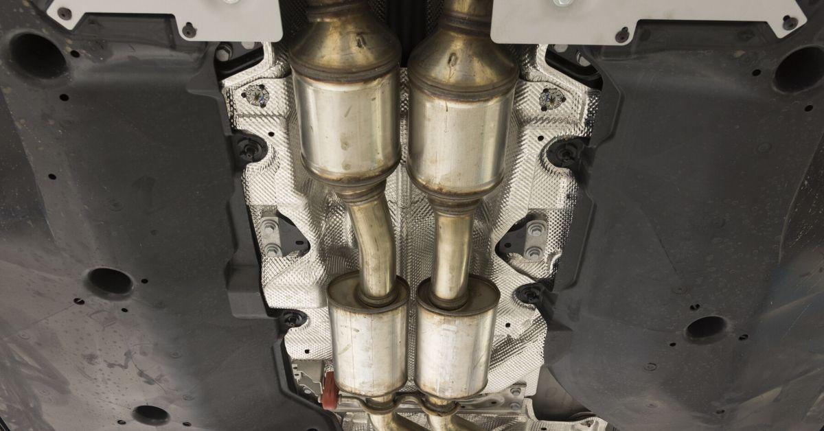 catalytic converter under vehicle