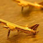 gold airplanes