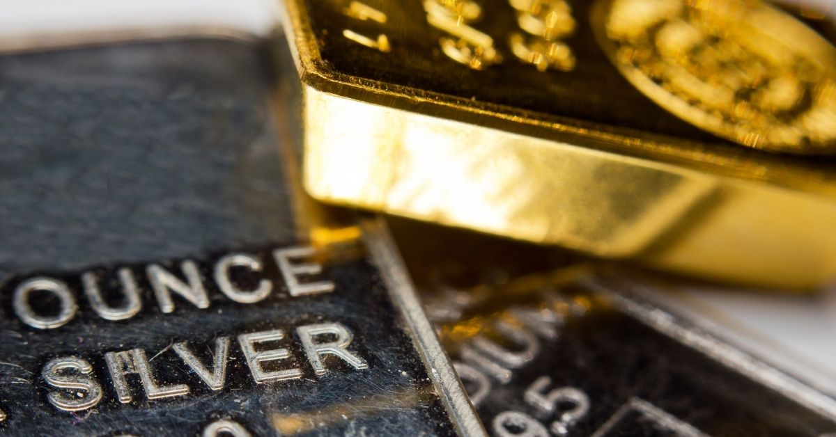 silver and gold bars
