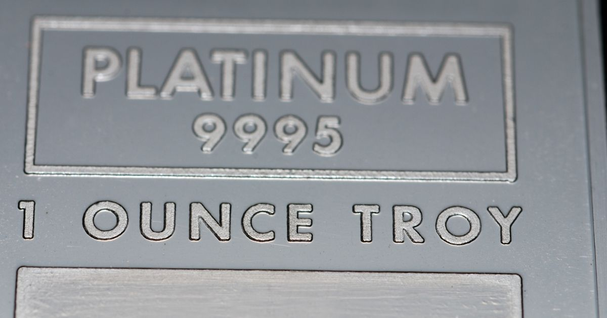 platinum one troy ounce bar