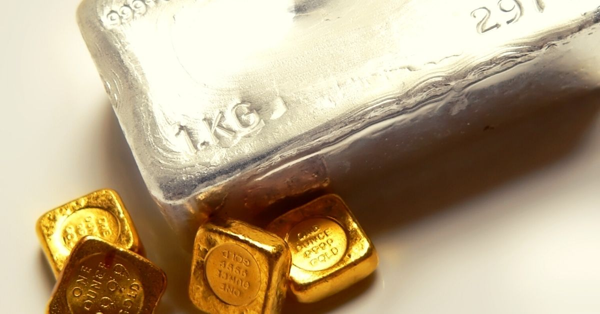 silver bars and gold